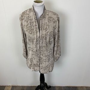 Alex Evenings Sequined Blazer With Shoulder Pads